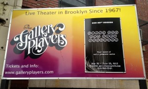 Gallery Players Black Box Sign