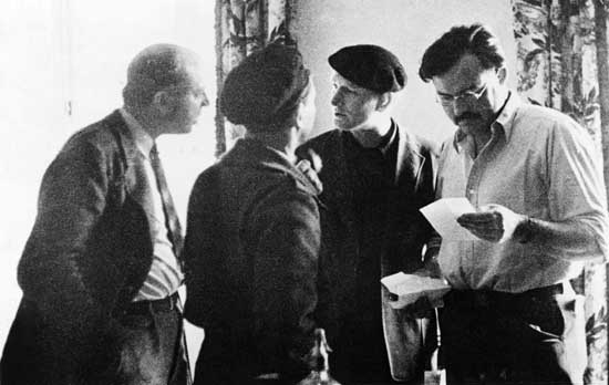 Ernest Hemingway and Others in Spain